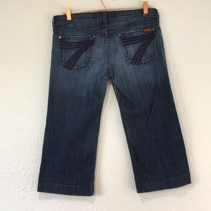7 For All Mankind Jeans - 7 seven for all mankind dojo crop cropped capri
